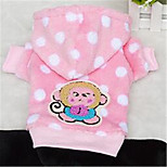 Dog Clothes/Jumpsuit Dog Clothes Winter Spring/Fall Polka Dots Casual/Daily