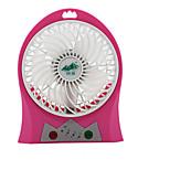 JIDIAN F-268 Fan  USB Mini Charger Small Fan Portable Dormitory Table Desktop Large Wind Mute Fan With Lighting Function