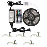 Led Strip Lights Kit Waterproof 5050 5M 300leds RGB with 44key Ir Controller and 12V 5A Power Supply for Kicthen Bedroom Sitting Room and Outdoor