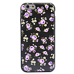 For Apple iPhone 7 7 Plus 6S 6 Plus Case Cover Flower Pattern Crystal Relief Acrylic Backplane TPU Frame Combo Phone Case