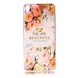 For Sony Xperia XZ Premium XA Case Cover Flower Letters Pattern Painted Relief High Penetration TPU Material Phone Case XA1 E5