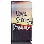 For Apple iPhone 6s plus 6plus 6s 6 5 5s se Case Cover Card Holder Wallet with Stand Flip Pattern Full Body Case Word / Phrase Hard PU Leather