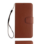 For Sony Xperia E5 Card Holder Case Full Body Case Solid Color Soft PU Leather