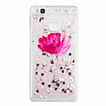 For Huawei P9 Lite Huawei P8 Lite Flowing Liquid Pattern Case Back Cover Case Flower Soft TPU