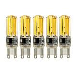 5W E14 G9 G4 LED à Double Broches T 4 COB 450 lm Blanc Chaud Blanc Gradable AC 100-240 V 5 pièces