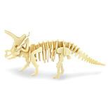 Puzzles 3D - Puzzle Bausteine Spielzeug zum Selbermachen Dinosaurier Holz Model & Building Toy