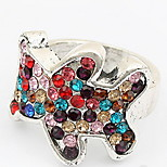 Han Edition Fashion Multicolor Adorable Bear Ring