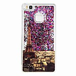 For Huawei P9 Lite Huawei P8 Lite Flowing Liquid Pattern Case Back Cover Case Eiffel Tower Soft TPU
