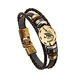 Damen Herrn Ketten- & Glieder-Armbänder Freundschaft Vintage Leder Runde Form Schmuck Für 1 Stück