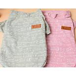 Cães Camiseta Roupas para Cães Primavera/Outono Flor Fofo Da Moda Casual