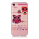 For Apple iPhone 7 7 Plus 6S 6 Plus SE 5S 5 5C Case Cover Owl Pattern HD Painted TPU Material IMD Process Phone Case