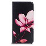 iPhone 7plus 7 telefon esetében műbőr anyagból lótusz minta festett telefon esetében 6s plus 6plus 6s 6 se 5s 5