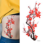 5PC Women Sexy Tattoo Plum Blossom Pattern Tattoo Paster Summer Style Tattoo Fake Waterproof Tatoo