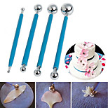 4Pcs Metal Ball Baking Fondant Cake Tools Stainless Steel 8 Head Pen for Sugar Flower DIY Cake tools