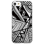 For iPhone 7 Plus 7 Case Cover Transparent Pattern Back Cover Case Geometric Pattern Tile Lines / Waves Soft TPU for iPhone 6sPlus 6Plus 6s 6 SE 5 5s