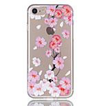 Для яблока iphone 7 7 плюс 6s 6 плюс чехол чехол персик цветение рельеф лак tpu материал не затухает корпус телефона
