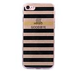 Pour apple iphone 7 7 plus 6s 6 plus se 5s 5 casquette rayé rayé motif flash poudre imd process tpu matériel téléphone étui