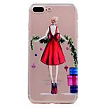 Dla iphone 7 plus 7 obudowa telefonu czerwona spódnica sexy girl model miękka tpu materiał telefonu przypadku 6s plus 6s 6 se 5s 5