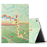 For Apple iPad (2017) iPad Air 2 iPad Air Case Cover with Stand Flip Pattern Full Body Case Animal Hard PU Leather