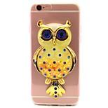 For Apple iPhone 7 7 Plus 6S 6 Plus SE 5S 5 Case Cover Owl Flash Powder Quicksand TPU Material DIY Stent Phone Case