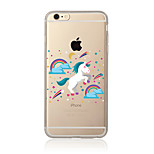 Case For  iPhone 7 7 Plus Unicorn Pattern TPU Soft Back Cover Cartoon For iPhone 6 Plus 6s Plus iPhone 5 SE 5s 5C 4s