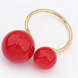 Bohemian Adjustable Simple Ball Rings Couple's Daily Cuff Ring Statement Jewelry