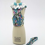 Harness Leash Adjustable Geometric Flower/Floral Fabric
