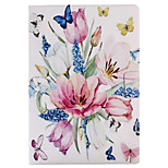 For Case Cover with Stand Flip Pattern Smart Touch Full Body Case Flower Hard PU Leather for iPad 2017 iPad Pro 9.7 air2 air 2.3.4