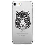 iPhone 7 plus 7 suojus ympäristöystävällinen läpinäkyvä kuvio takakansi tapauksessa eläin punk pehmeä TPU iPhone 6s plus 6s 6 5s SE 5