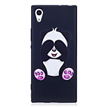 Sony Xperia XA1 XZ  Case Cover Panda Pattern Painted Embossed Feel TPU Soft Case Phone Case