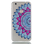 For Huawei P8 Lite (2017) P9 Lite Phone Case TPU Material Half Flower Pattern Relief Phone Case P8 Lite