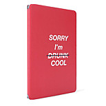 For Apple iPad (2017) Air 2 Case Cover with Stand Flip Pattern Full Body Case Word / Phrase Hard PU Leather Air Mini 4/3 2 1 ipad2 3 4