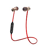 SYOTO Wireless Bluetooth Earphone Noise Cancelling Stereo Music Sport Headset Metal Magnetic Earbuds with Microphone