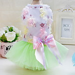 Other Dress Dog Clothes Cute Casual/Daily Wedding Princess Blushing Pink Blue Green