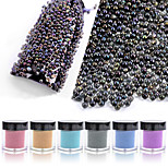 Colorful Glass Bead Nail Art Decorations Flashes Nail Art Design