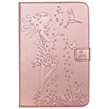 For Case Cover Card Holder Wallet with Stand Flip Embossed Full Body Case Sexy Lady Cat Butterfly Hard PU Leather for iPad Mini 4 mini1.2.3