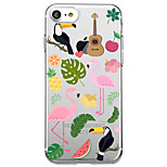 Voor iphone 7 plus 7 case cover transparant patroon achterblad case flamingo fruit zachte tpu voor iphone 6s plus 6s 6 plus 6 5s 5 se