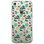 Voor iphone 7 plus 7 case cover transparant patroon back cover case fruit zachte tpu voor iphone 6s plus 6s 6 plus 6 5s 5 se