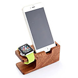 Pasiso Watch Stand for Apple Watch Series 1 2 iPhone 6Plus 6 5 5s 5c 4s 4 All-In-1 Wooden 38mm / 42mm Cable not include