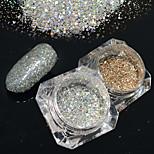 2bottles/set 0.2g/bottle Fashion Nail Art Platinum Glitter Power Gorgeous Galaxy Starry Effect DIY Shining Decoration BG05&26