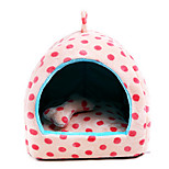Cat Dog Bed Pet Blankets Polka Dots Portable Breathable Beige Blushing Pink Light Blue