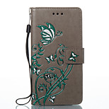For Huawei P10 Lite P8 Lite2017Case Cover Card Holder Wallet with Stand Flip Embossed Pattern Full Body Case Butterfly Hard PU Leather