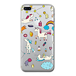 For iPhone 7 Plus 7 Case Cover Transparent Pattern Back Cover Case Unicorn Soft TPU for iPhone 6s Plus 6s 6 Plus 6 5s 5 SE