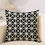 1 Pcs Personality Triangular Lattice Pattern Pillow Cover Square Pillowcase Cotton/Linen Cushion Cover