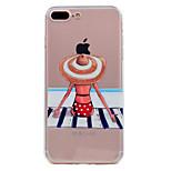 Для iphone 7 плюс 7 крышка корпуса ультратонкий прозрачный узор задняя крышка чехол купальник мягкий tpu для 6 с плюс 6 плюс 6 se 5s 5