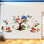 Butterfly Elf Cartoon Sticker Kids' Room Living Room Bedroom Background Decorative Sticker Pvc Wall Sticker