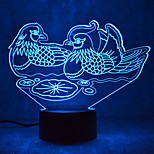 Christmas Mandarin Duck Touch Dimming 3D LED Night Light 7Colorful Decoration Atmosphere Lamp Novelty Lighting Christmas Light