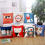 6 Design Cartoon Printing Animal Pillow Case Cotton/Linen Pillow Cover