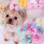 Dog Hair Accessories Dog Clothes Cute Casual/Daily Bowknot Purple Blue Blushing Pink