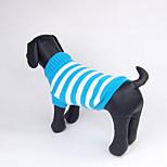 Собака Свитера Одежда для собак На каждый день Полоски Зеленый Синий Розовый